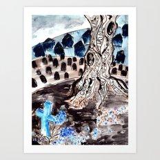 Hyacinths. Art Print