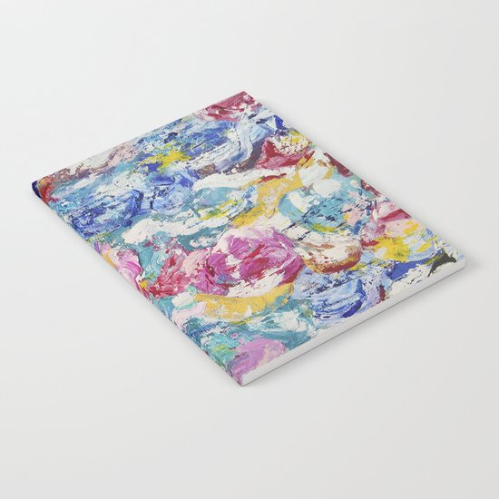 Abstract floral painting Notebook