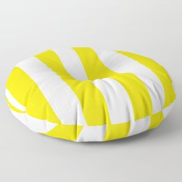 Classic Cabana Stripe in Lemon Yellow + White Floor Pillow