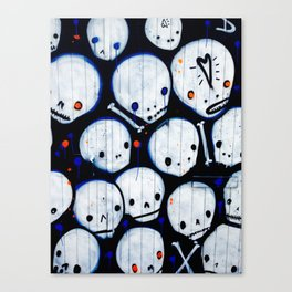 Cute Skulls Canvas Print