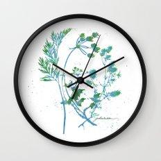 Botanical 1 Blue and Green Wall Clock