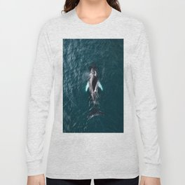 Humpback Whale in Iceland - Wildlife Photography Long Sleeve T-shirt