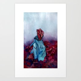 She ran from her past, a ghost on the wind. Art Print