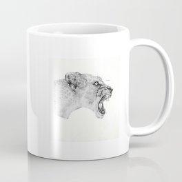 Dotwork Lioness Coffee Mug