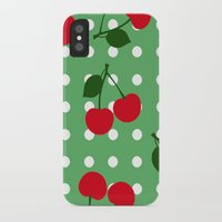 cherry iPhone & iPod Cases featuring cherry by vitamin