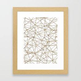 Geometric triangles glitter pattern. Modern stylish texture. Gold trendy glitter print background Framed Art Print