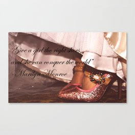 Pink glitter Shoes #1 Canvas Print