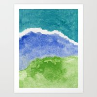 salt water Art Prints featuring Salt Water by Beth Thompson