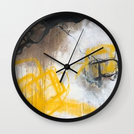 Tension - Square Abstract Expressionism Wall Clock