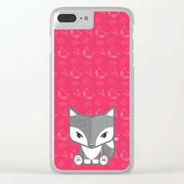 Mexican Wolf Clear iPhone Case