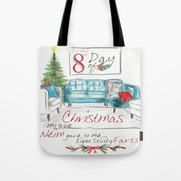 EIGHTH DAY OF CHRISTMAS WEIMS Tote Bag