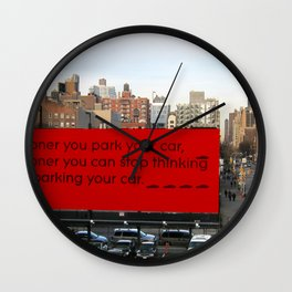 Soon-Park-Car Wall Clock