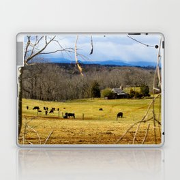 Cattle ranch overlooking the Blue Ridge Mountains Laptop & iPad Skin