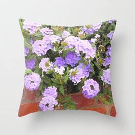 Vebena in Purple Throw Pillow
