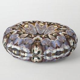 Mushroom Mandala 2 Floor Pillow