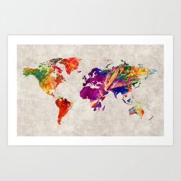 World Map 50 Art Print