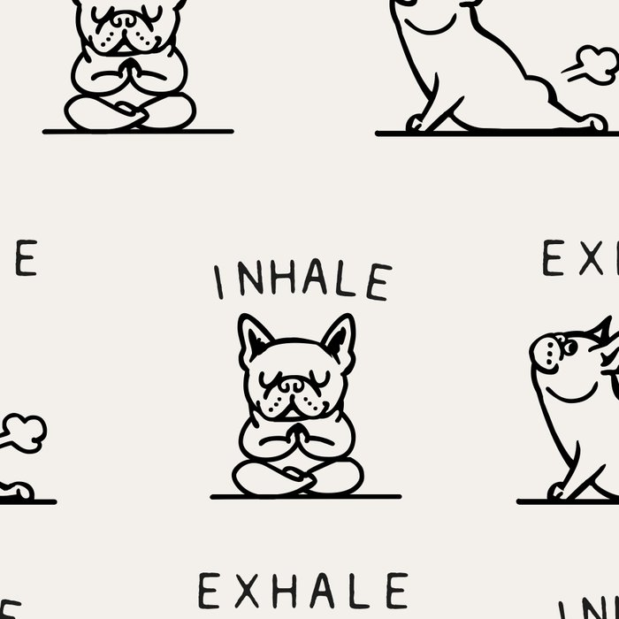 Inhale Exhale Frenchie Leggings