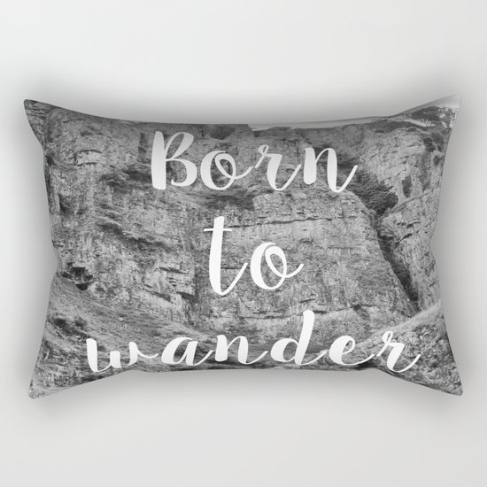 Born To Wander Rectangular Pillow
