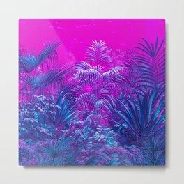 Neon Jungle Paradise Metal Print