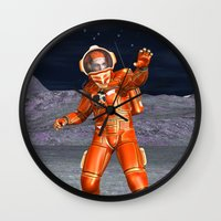 astronaut Wall Clocks featuring Astronaut by Design Windmill