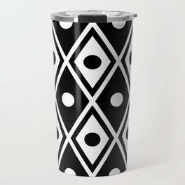 Harlequin Pattern Black & White Travel Mug