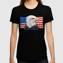 Patriotic Eagle 4th of July American Flag T-shirt