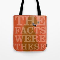 pushing daisies Tote Bags featuring Pushing Daisies - Digby by MacGuffin Designs