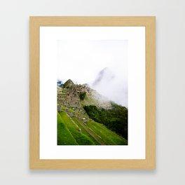 Misty Machu Picchu Framed Art Print