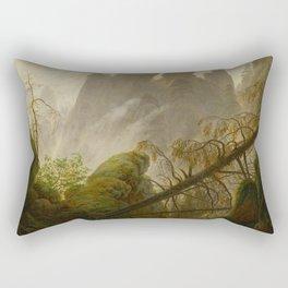 Caspar David Friedrich - Rocky ravine in the Elbe Sandstone Mountains.jpg Rectangular Pillow