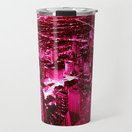 Chicago Skyline Hot Pink Travel Mug