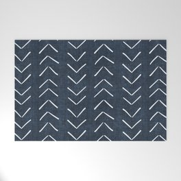 Mud Cloth Big Arrows in Navy Welcome Mat