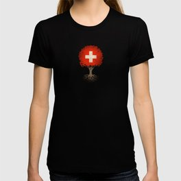 Vintage Tree of Life with Flag of Switzerland T-shirt