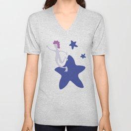 Reach for the Stars - Blue Unisex V-Neck