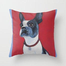 Blue Ruby Throw Pillow