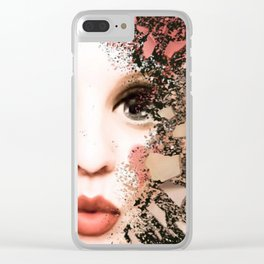 Fragmented Doll Parts Clear iPhone Case