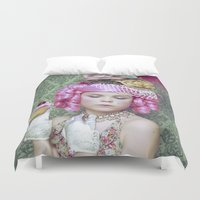 marie antoinette Duvet Covers featuring Marie Antoinette by Malice of Alice