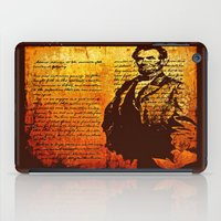 lincoln iPad Cases featuring Abraham Lincoln by Saundra Myles