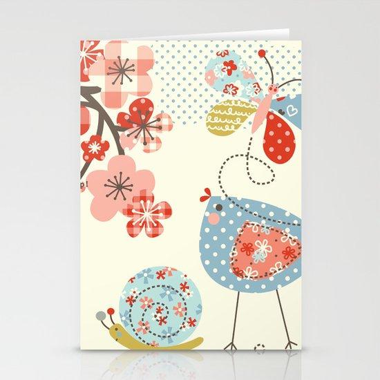 Spring Birdie Stationery Cards