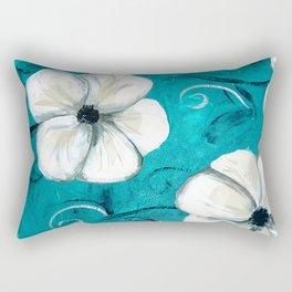 Flowers in Oil Rectangular Pillow