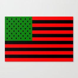 Black American Flag Canvas Print