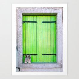 Barefoot In Venice Art Print