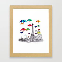Travel with Umbrella Framed Art Print