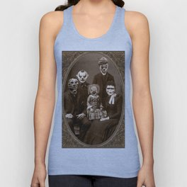 Creepy Clown Family Halloween Unisex Tank Top