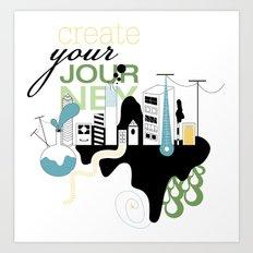 Create Your Journey - Typography & Illustration Art Print
