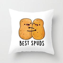 Best Spuds Cute Buddy Potato Pun Throw Pillow
