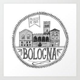 Palazzo Re Enzi, Bologna Art Print