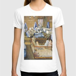 12,000pixel-500dpi - Sir John Lavery - Lady Henry's Creche, Woolwich - Digital Remastered Edition T-shirt