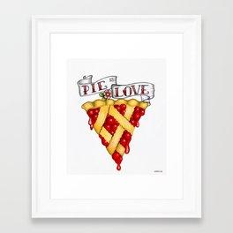 Pie Is Love Framed Art Print