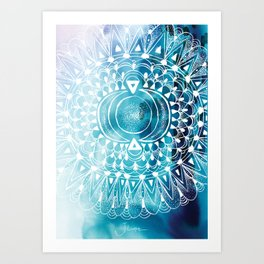 Mytic Moon Art Print