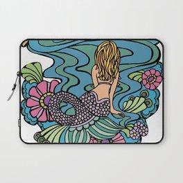 Seated Curvy Tail Mermaid Laptop Sleeve